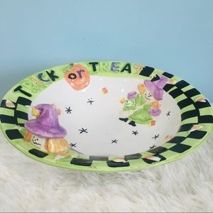 Trick or Treat Witch Halloween Decor Bowl